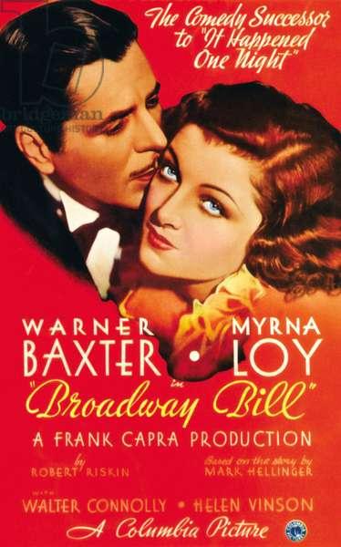 La course de Broadway: BROADWAY BILL, Warner Baxter, Myrna Loy, 1934