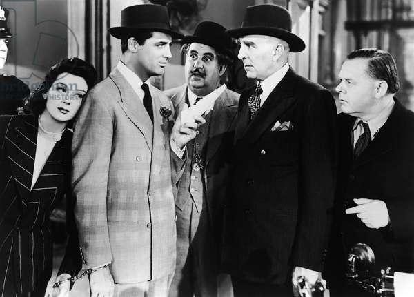 HIS GIRL FRIDAY, Rosalind Russell, Cary Grant, Billy Gilbert, Clarence Kolb, Gene Lockhart, 1940