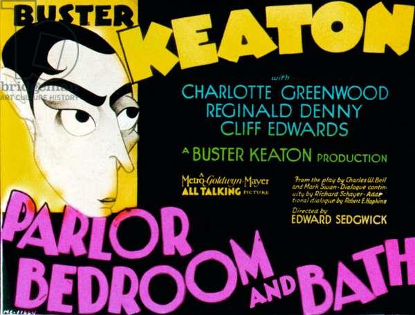 PARLOR, BEDROOM AND BATH: PARLOR, BEDROOM AND BATH, Buster Keaton, 1931