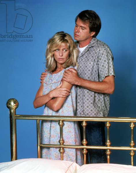 THE BURNING BED, Farrah Fawcett, Paul Le Mat, 1984. (c)Tisch/Avnet Productions. Courtesy: Everett Collection.