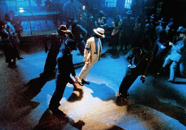 MOONWALKER, Michael Jackson (in white), 1988. ©Dream Quest Images/Courtesy Everett Collection