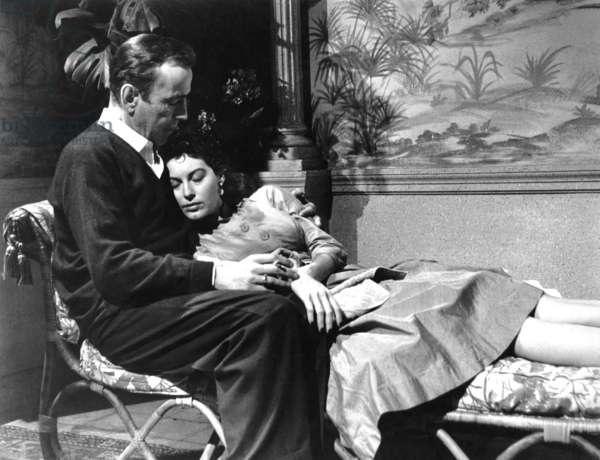 THE BAREFOOT CONTESSA, Humphrey Bogart, Ava Gardner, 1954