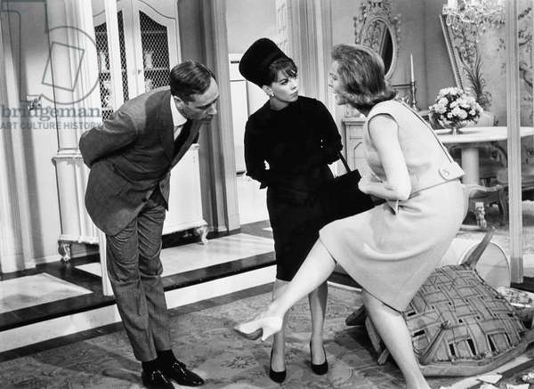 SEX AND THE SINGLE GIRL, Mel Ferrer, Natalie Wood, Lauren Bacall, 1964