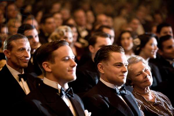 J. EDGAR, foreground from left: Armie Hammer as Clyde Tolson, Leonardo DiCaprio as J. Edgar Hoover, Judi Dench, 2011. ph: Keith Bernstein/©Warner Bros./courtesy Everett Collection