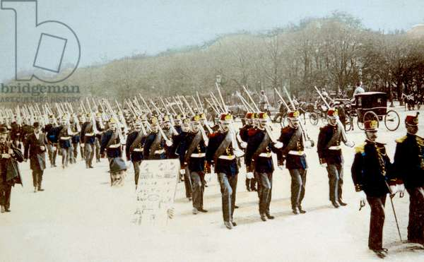 Garde republicaine francaise: World War I, French Republican Guard troops, ca. 1914