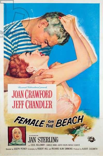 La maison sur la plage: FEMALE ON THE BEACH, Jeff Chandler, Joan Crawford, Jan Sterling, 1955
