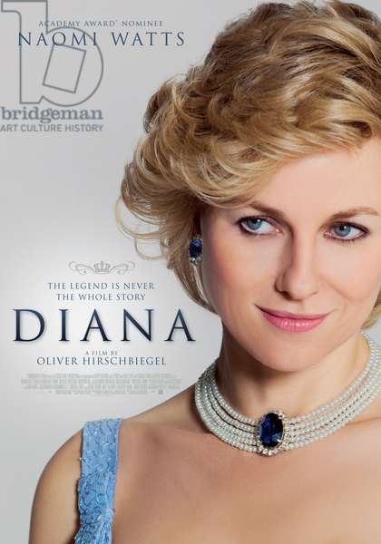 Diana: DIANA, New Zealand poster art, Naomi Watts, as Princess Diana, 2013, ©Entertainment One/courtesy Everett Collection
