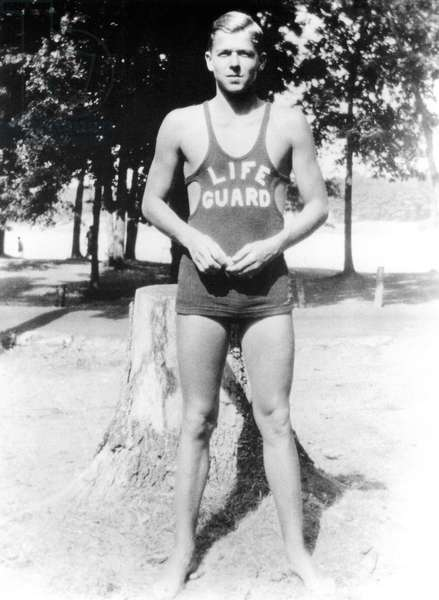 Ronald Reagan as a lifeguard on Illinois' Rock River in the early 1930s