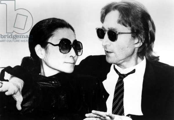 John Lennon with wife Yoko Ono ca. 1970s