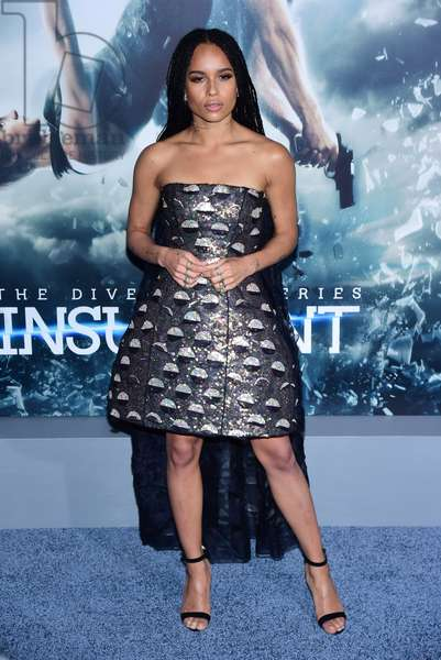 Zoe Kravitz (wearing a Christian Dior Couture dress) at arrivals for THE DIVERGENT SERIES: INSURGENT Premiere, Ziegfeld Theatre, New York, NY March 16, 2015. Photo By: Gregorio T. Binuya/Everett Collection