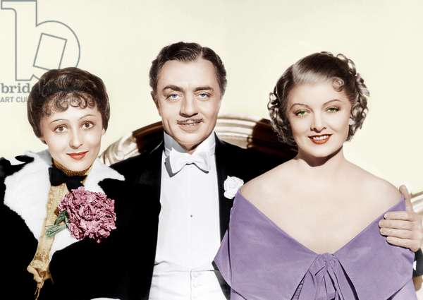 Le grand Ziegfeld: THE GREAT ZIEGFELD, from left: Luise Rainer, William Powell, Myrna Loy, 1936