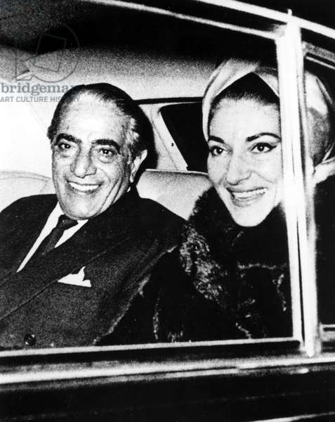 Aristotle Onassis and lover Maria Callas in the early 1960s