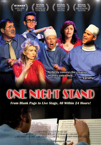ONE NIGHT STAND, International poster art, from left: Richard Kind, Nellie McKay (front), Benj Pasek, Jesse Tyler Ferguson, Rachel Dratch, Cheyenne Jackson, 2011.
