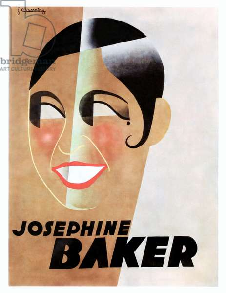 Josephine Baker on 1931 poster art, artwork by : J. Chassing