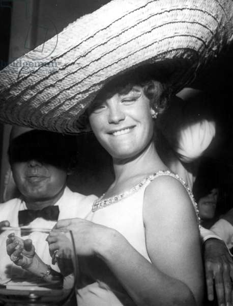 Romy Schneider in Rio for Carnaval, early 1960s
