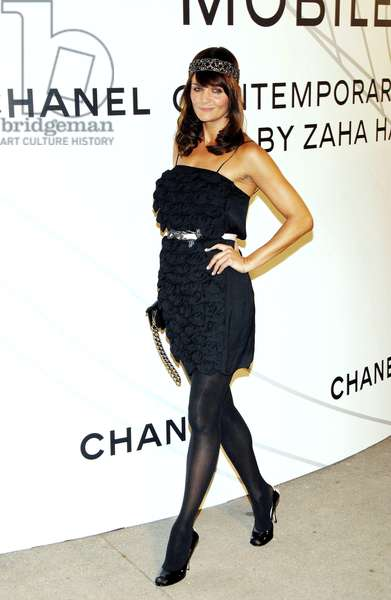 Helena Christensen at arrivals for Opening Night Party for Mobile Art: CHANEL Contemporary Art Container by Zaha Hadid, Rumsey Playfield in Central Park, New York, NY, October 21, 2008. Photo by: Desiree Navarro/Everett Collection