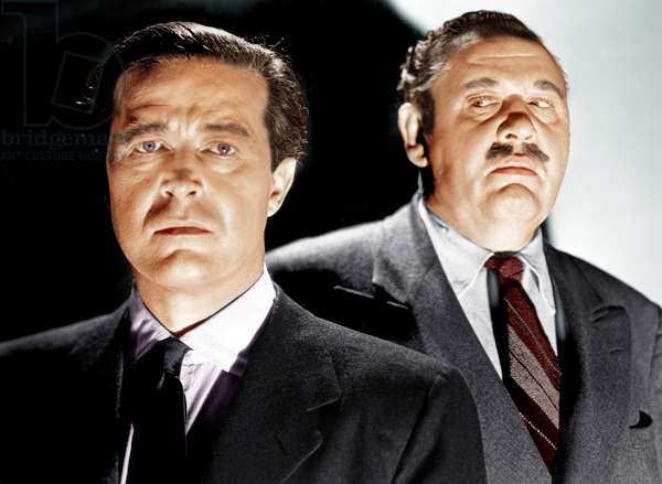 La grande horloge: THE BIG CLOCK, from left: Ray Milland, Charles Laughton, 1948