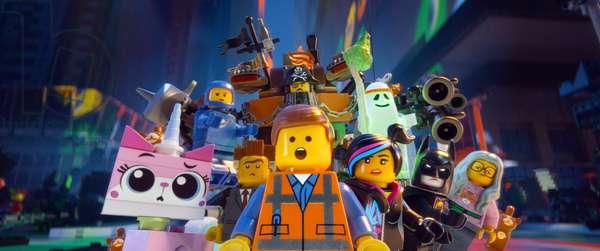 THE LEGO MOVIE, Unikitty (voice: Alison Brie), Benny (voice: Charlie Day), Metal Beard (Nick Offerman), Vitruvius (voice: Morgan Freeman), Batman (voice: Will Arnett), Wyldstyle (voice: Elizabeth Banks), Emmet (voice: Chris Pratt), President Business (voice: Will Ferrell), 2014. ©Warner Bros. Pictures/courtesy Everett Collection