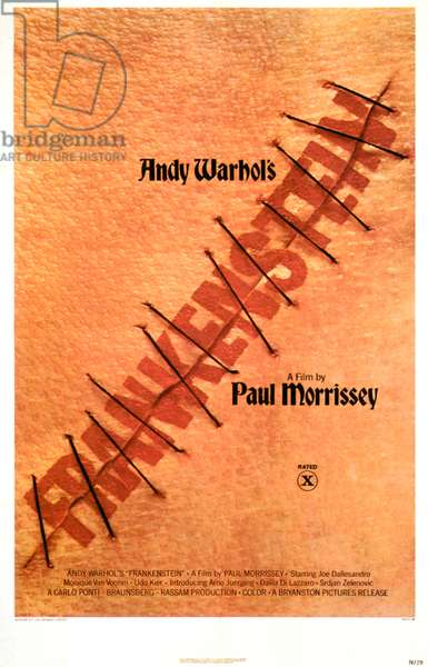 ANDY WARHOL'S FRANKENSTEIN (aka FLESH FOR FRANKENSTEIN), US poster art, 1972.