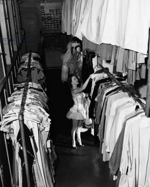Virginia Gibson, in the Warner Brothers' costume department, 1952
