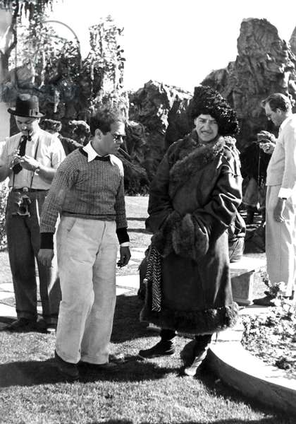 Frank Capra, Ronald Colman: LOST HORIZON, Frank Capra, Ronald Colman on-set, 1937