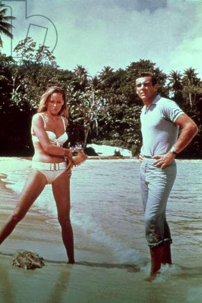 DR. NO, Ursula Andress, Sean Connery, 1962.