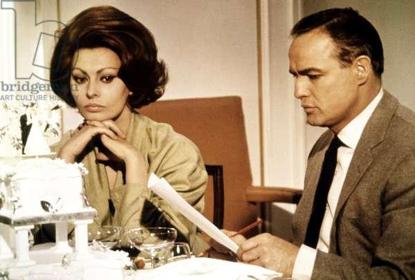 A COUNTESS FROM HONG KONG, Sophia Loren, Marlon Brando, 1967