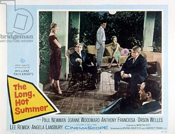 THE LONG, HOT SUMMER, Joanne Woodward, Paul Newman, Lee Remick, Orson Welles, 1958, lobbycard, TM and Copyright (c)20th Century Fox Film Corp. All rights reserved.
