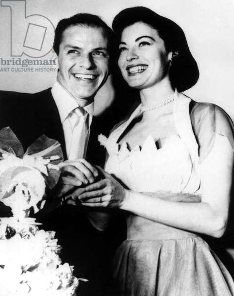 Newlyweds FRANK SINATRA and AVA GARDNER, 1951