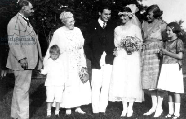 Ernest Hemingway and first wife Hadley on their wedding day, Sept. 3, 1921