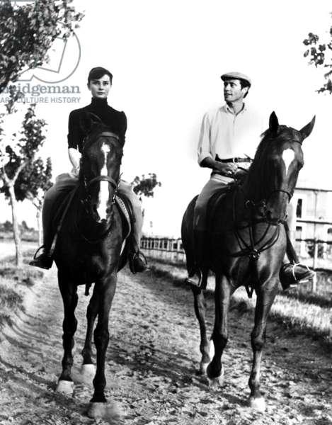 Audrey Hepburn, with husband Mel Ferrer ca. 1955