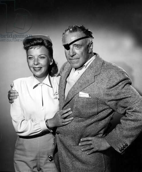 Ida Lupino & Raoul Walsh, directors. Raoul directed Ida as an actress in HIGH SIERRA. Photo from 1952.