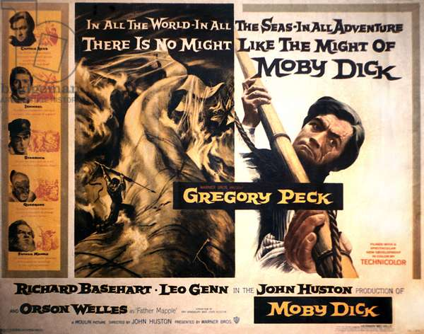 MOBY DICK, Gregory Peck, film poster, 1956