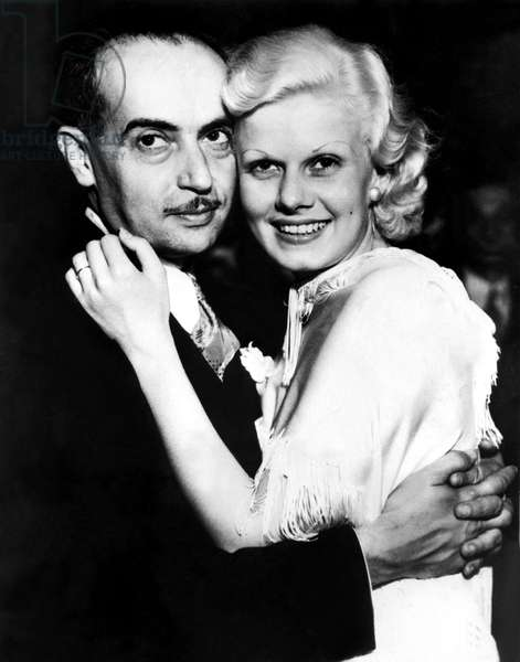 PAUL BERN and JEAN HARLOW on the day of their wedding, 7/4/32