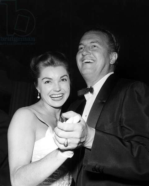 ESTHER WILLIAMS and husband Ben Gage, dancing. Late 50's.