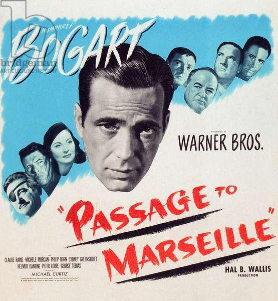 Passage pour Marseille: PASSAGE TO MARSEILLE, Claude Rains, Philip Dorn, Michele Morgan, Humphrey Bogart, Peter Lorre, Sydney Greenstreet, George Tobias, John Loder, 1944