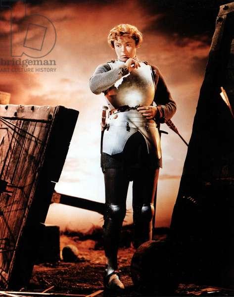 JOAN OF ARC, Ingrid Bergman, 1948, warrior in armor