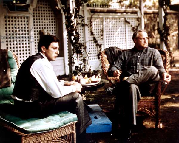 THE GODFATHER, Al Pacino, Marlon Brando, 1972