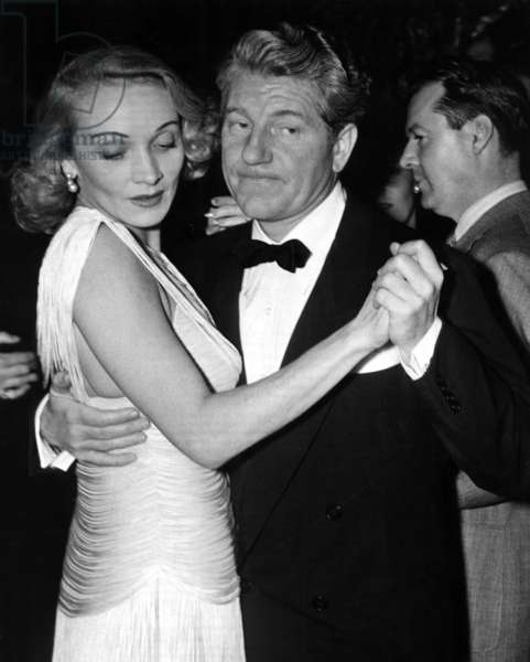 Marlene Dietrich, and Jean Gabin dancing at the El Morocco in NYC, ca. 1942