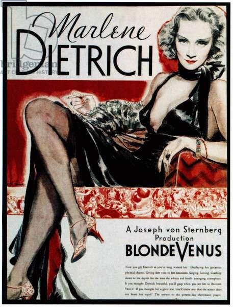 BLONDE VENUS, Marlene Dietrich, 1932