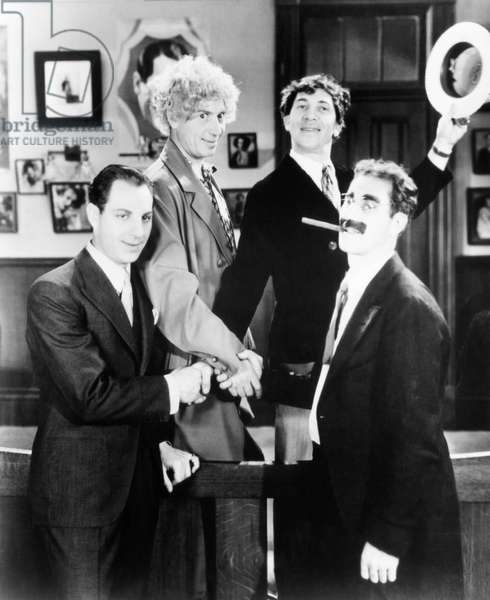 THE HOUSE THAT SHADOWS BUILT, from left: Zeppo Marx, Harpo Marx, Chico Marx, Groucho Marx, 1931