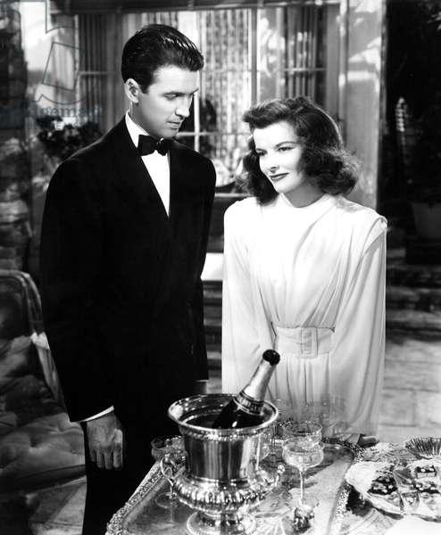 THE PHILADELPHIA STORY, James Stewart, Katharine Hepburn, 1940