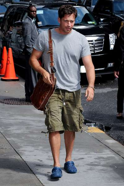 Harry Connick Jr.: Harry Connick Jr., visits the 'Late Show With David Letterman' out and about for CELEBRITY CANDIDS - THURSDAY, , New York, NY June 10, 2010. Photo By: Ray Tamarra/Everett Collection