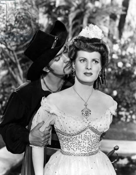 Le cygne noir: THE BLACK SWAN, Tyrone Power, Maureen O'Hara, 1942. TM and Copyright © 20th Century Fox Film Corp. All rights reserved. Courtesy: Everett Collection.