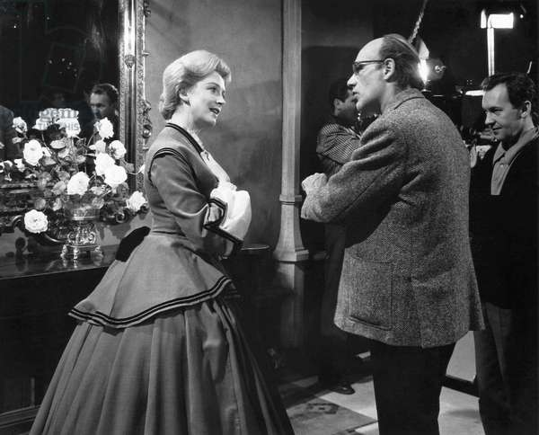 The Innocents: Deborah Kerr with director, Jack Clayton, on set, 1961