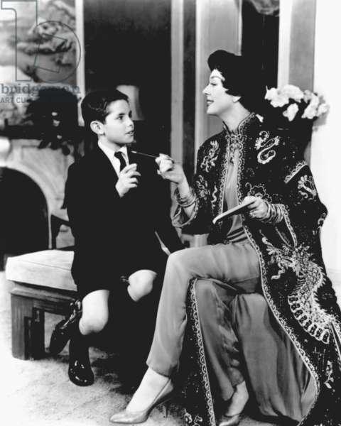 AUNTIE MAME, Jan Handzlik, Rosalind Russell, Broadhurst Theater, New York, 1956-1958