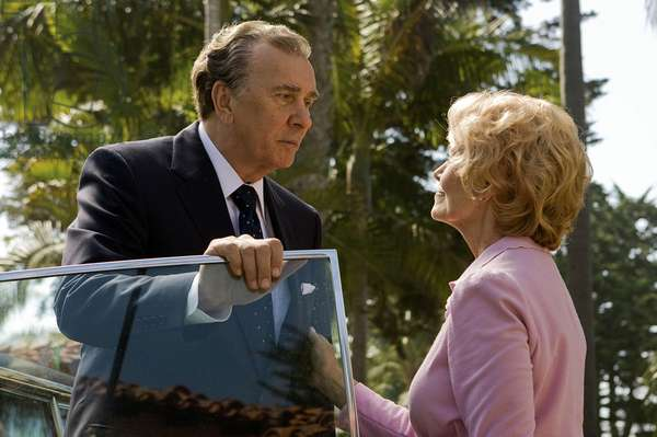 Frost/Nixon: FROST/NIXON, from left: Frank Langella as Richard Nixon, Patty McCormack as Pat Nixon, 2008. ©Universal/courtesy Everett Collection
