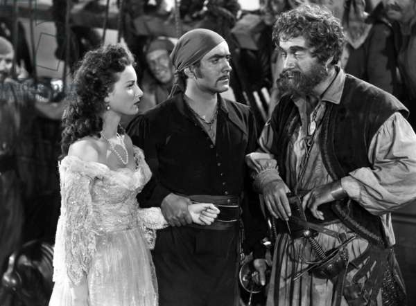 Le cygne noir: THE BLACK SWAN, Maureen O'Hara, Tyrone Power, George Sanders, 1942. TM and Copyright © 20th Century Fox Film Corp. All rights reserved. Courtesy: Everett Collection.