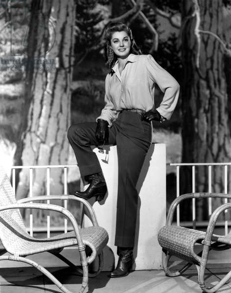 ESTHER WILLIAMS, modeling riding attire, 1946.
