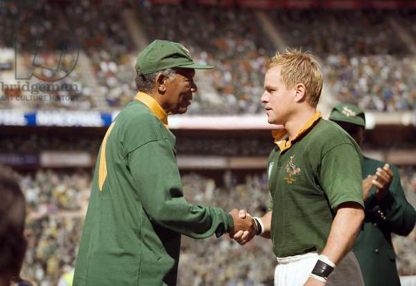 Invictus: INVICTUS, from left: Morgan Freeman as Nelson Mandela, Matt Damon, 2009. ©Warner Bros./courtesy Everett Collection